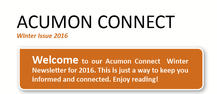 Acumon Connect Winter Newsletter 2016